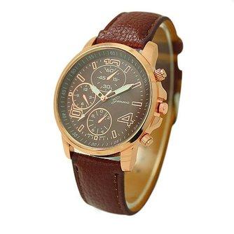 Unisex Horloges Quartz met Roze-Goudkleurige Behuizing