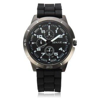 Silicone Horloges Met Brede Wijzerplaat