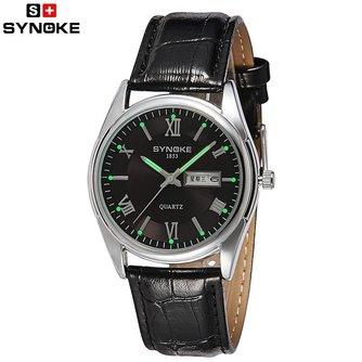 Synoke Heren Horloge met Leren Bandje