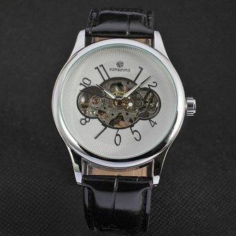 Unisex Casual Horloge met Leren Bandje