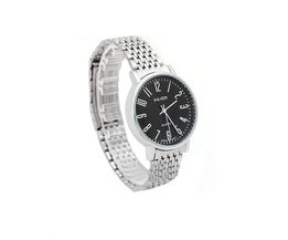 Modieus Zilveren Heren Horloge