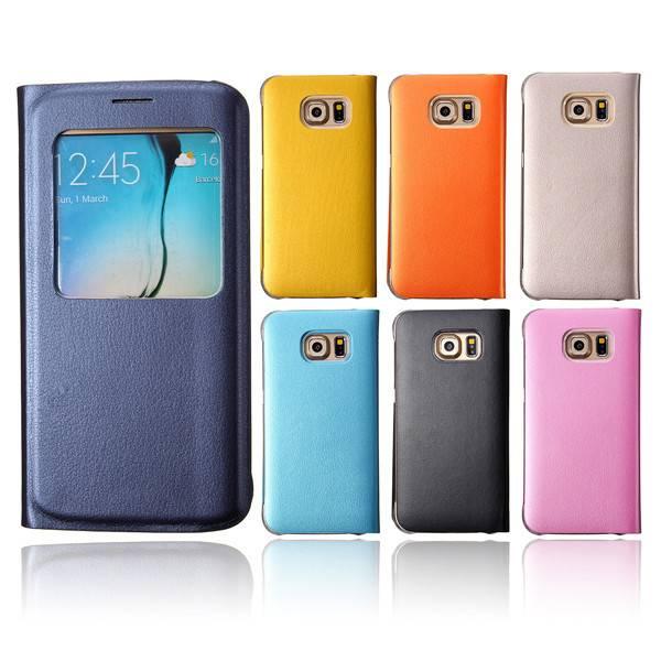 Leren Telefoonhoesje Voor Samsung Galaxy S6 Edge