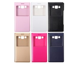 Samsung Galaxy A5 Case Leder met Raam
