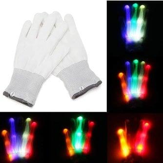 LED Handschoenen Gekleurd