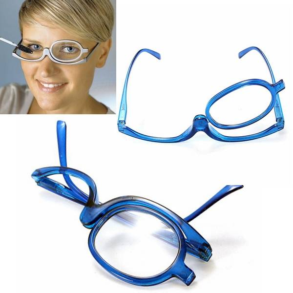 Blauwe Make-Up Bril
