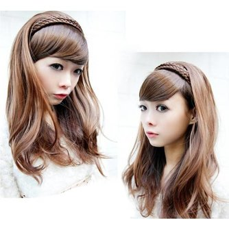 Pruik met Lang, Golvend Haar