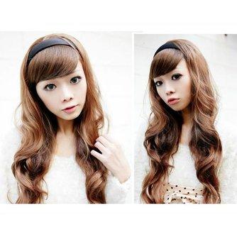 Mooie Pruik met Lang Haar