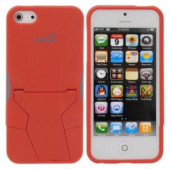Hoesje voor iPhone 5 met Uitvouwbare Standaard