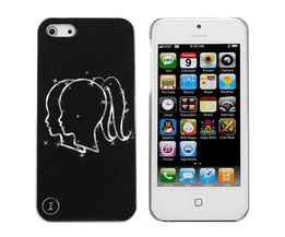 IPhone 5 Backcover Zwart met Print