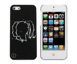 IPhone 5 Backcover Zwart met Print