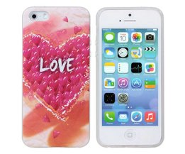 Soft Case Met Love Patroon Voor iPhone 5 & 5S