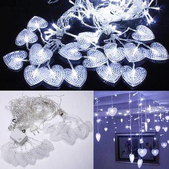 LED Snoer Met Lichtjes In De Vorm Van Hartjes