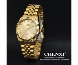 CHENXI CX-004A Herenhorloge Roestvrij Staal met Kristallen