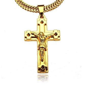 Jezus aan het Kruis Ketting Verguld