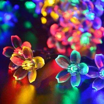 Snoer Met 50 LED Lampen Op Zonne-Energie