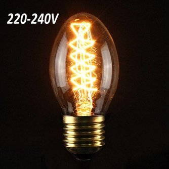 Retro Edison Gloeilamp AC 220-240V