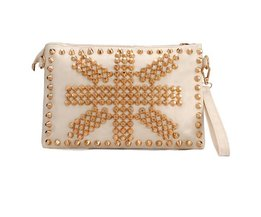 Clutch Tas met Studs Off-White