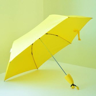Gele Paraplu In de Vorm Van Een Banaan