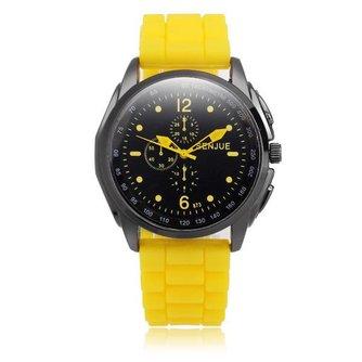 SENJUE 873 Unisex Horloge met Siliconen Polsband