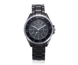 Zwart Herenhorloge van Sinobi
