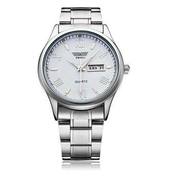 Zilveren Horloge Heren