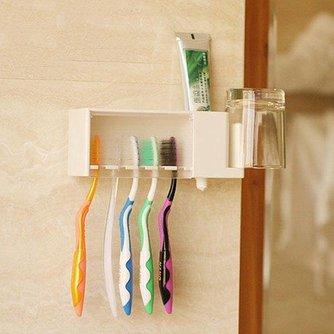 Multifunctionele Tandenborstelhouder voor in de Badkamer