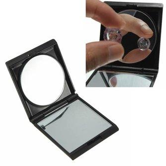 Zwarte Compacte Make-Up Spiegel