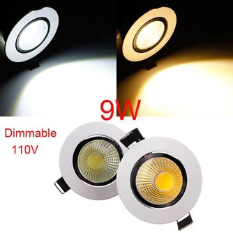 Dimbaar COB LED Lamp 110V