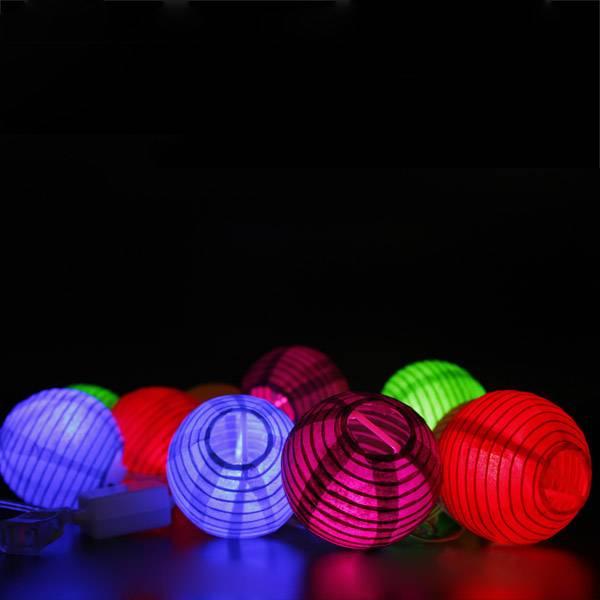 LED Snoer met 10 Papieren Lampionnen kopen? I MyXLshop (Tip)