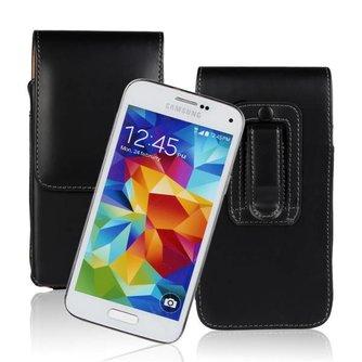 Zwart PU Leren Beschermhoesje voor de Samsung Galaxy S5mini