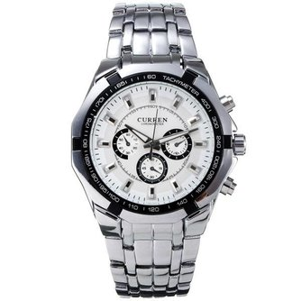 Mannen Horloge van Roestvrij Staal