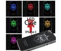 Beschermhoesje met Schedel LED Licht voor de iPhone 5 5S