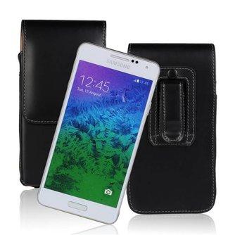 Lederen Hoesje voor Samsung Galaxy Alpha G850