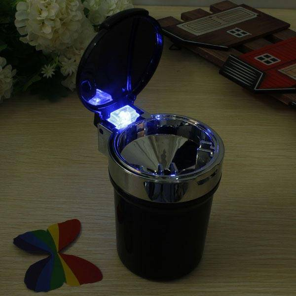 Auto Asbak met Blauw LED Licht I MyXLshop (SuperTip)