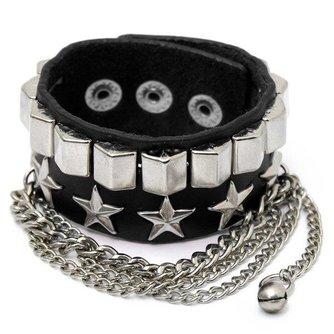 Punk Armband van Metaal en PU Leer