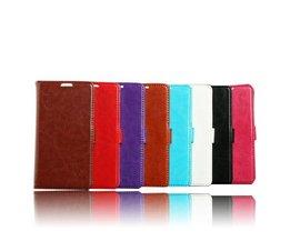 Portemonnee Hoesje van PU Leer voor de Samsung I9600 S5
