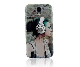 DJ Meisje Beschermhoesje voor de Samsung Galaxy S4 i9500