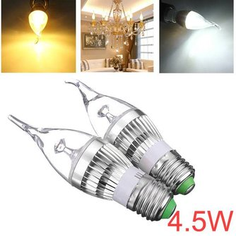 Dimbare Kaarsvormige LED Gloeilamp E27 4.5W