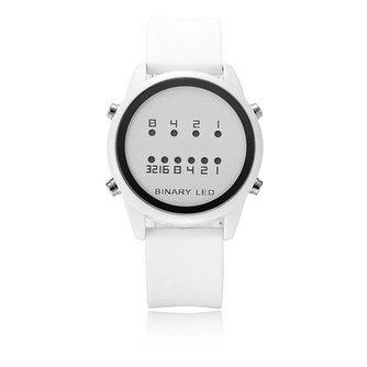 AMST 2054 Binair Horloge LED met Siliconen Band
