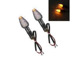 Amberkleurige LED Richtingaanwijzers voor Motoren 12V