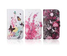 PU Leren Bloemen Hoesje voor Samsung Galaxy Ace 4 G357