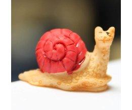 Schattige Miniatuur Slak voor in de Tuin