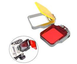Rode of Gele Duik Filter voor de GoPro Hero 3+ / 4