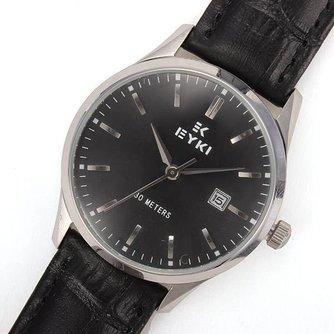 EYKI 8602 Horloge voor Hem en Haar met Leren Polsband