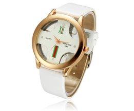 WOMAGE Unisex Horloge met Kruisvormige Wijzerplaat