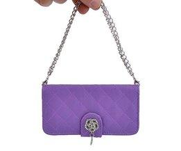 PU Leren Handtasje Beschermhoesje voor de iPhone 5/5S