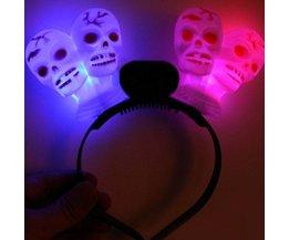 Feestelijke Hoofdband met LED Schedel Verlichting