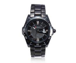 Stoere Mannen Horloges Quartz Zwart RVS