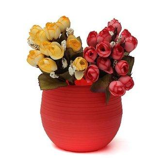 Kunststof Bloempot Mini Rood Geel