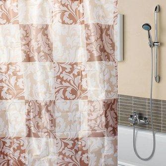 Waterdicht Douchegordijn met Bloemenpatroon 180x180cm